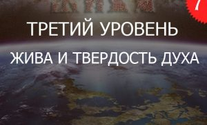 7.3«Жива и Твердость ДУХа — Уровень Ведающий»