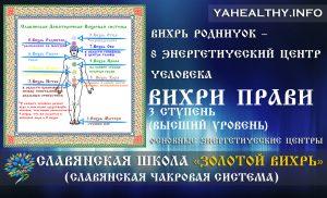 Вихрь Родничок – 8 энергетический центр человека | Вихри Прави | Золотой Вихрь