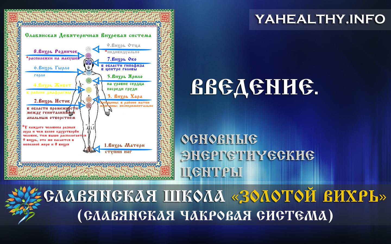 Введение | Основные энергетические центры | Золотой Вихрь | Энергетика славян